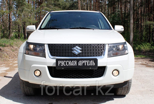 Накладки на передние фары (реснички) Suzuki Grand Vitara 2008-, фото 2