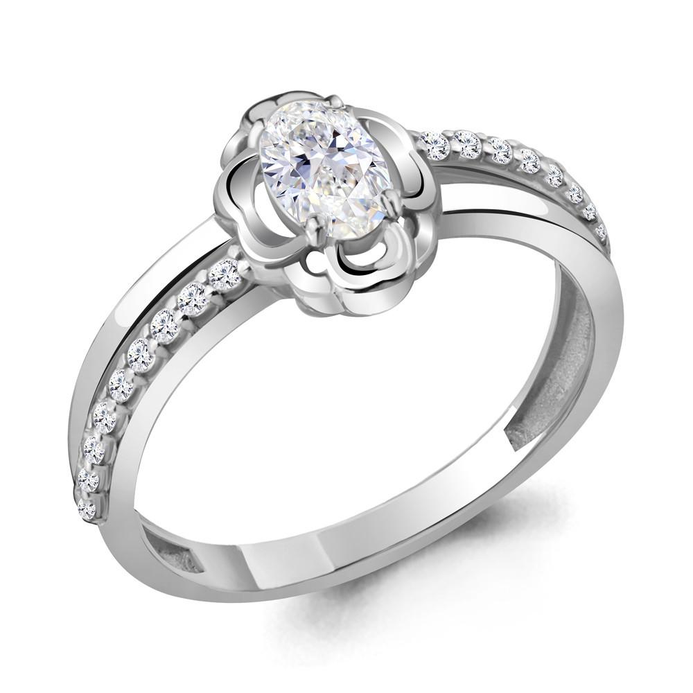 Серебряное кольцо с фианитом AQUAMARINE (#716765)