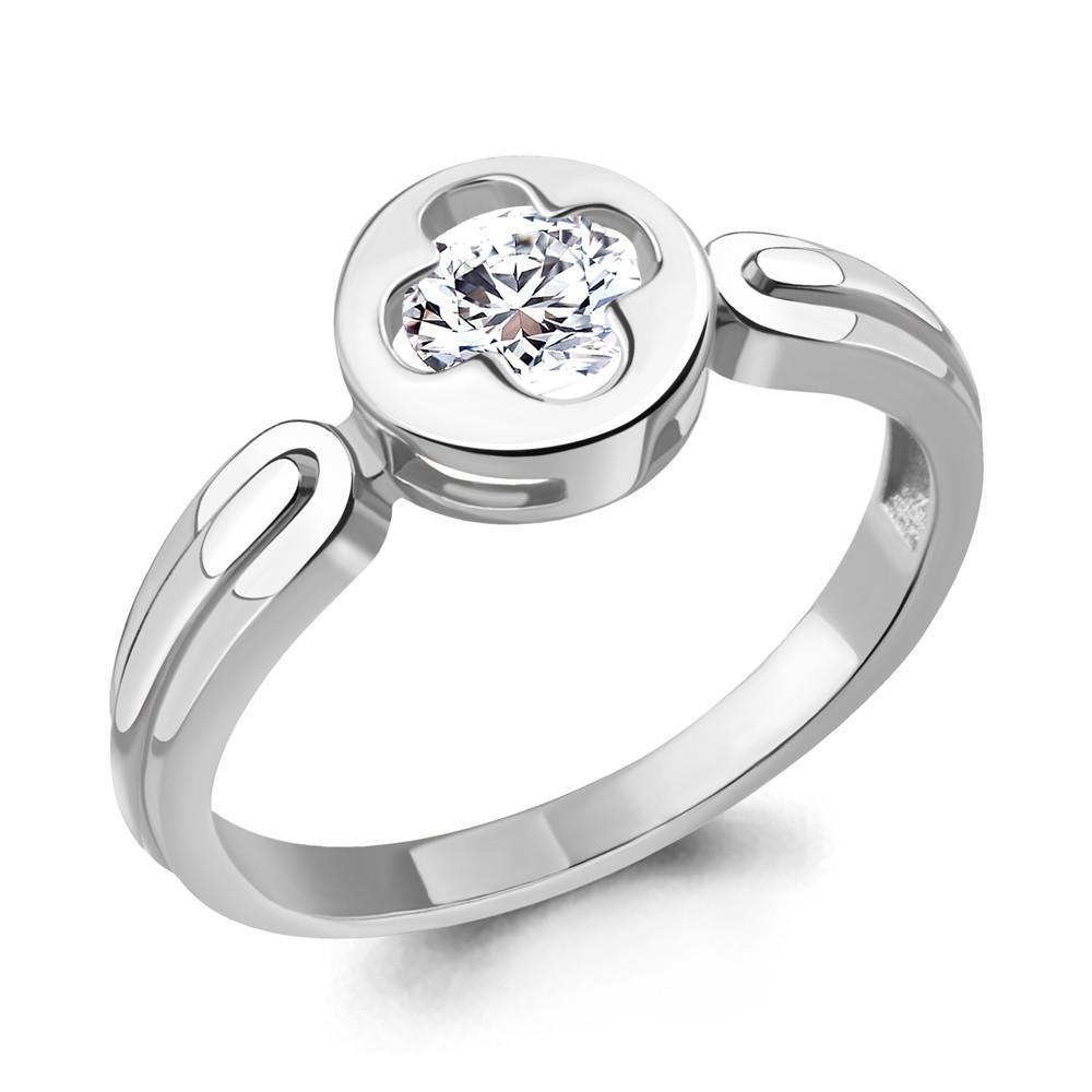 Серебряное кольцо с фианитом AQUAMARINE (#706428)