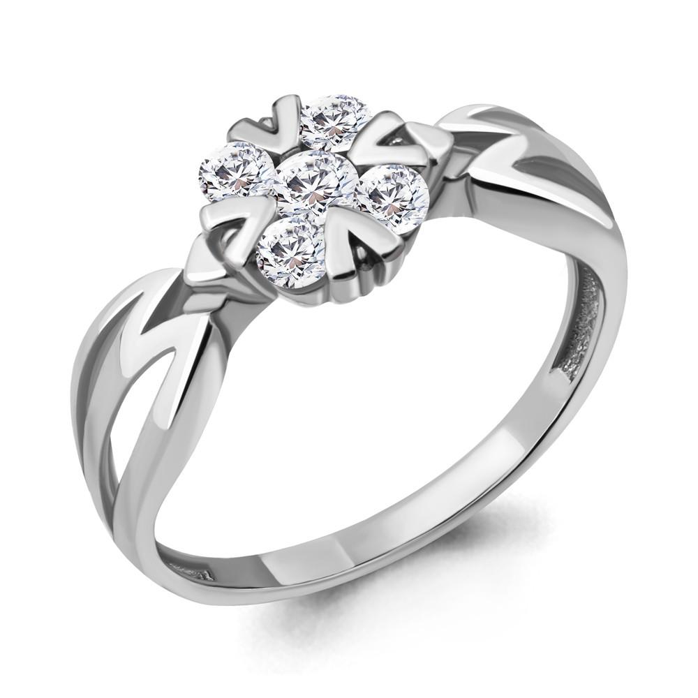 Серебряное кольцо с фианитом AQUAMARINE (#711684)