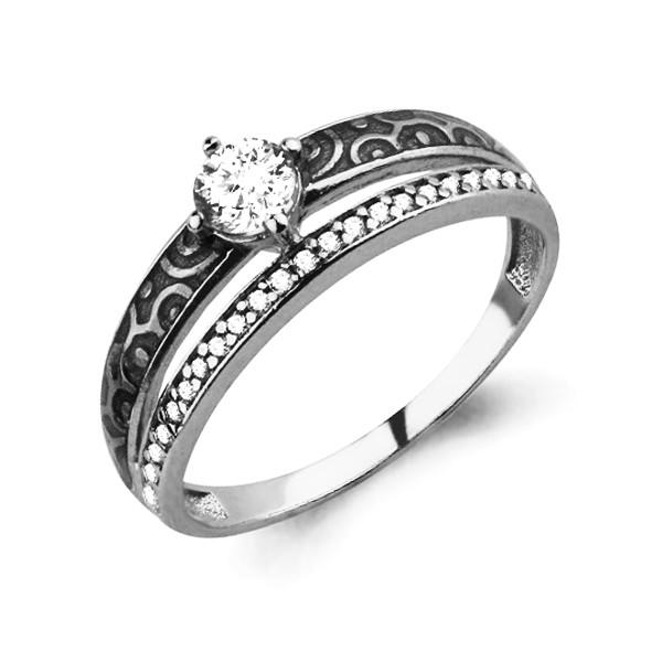 Серебряное кольцо с фианитом AQUAMARINE (#712397)