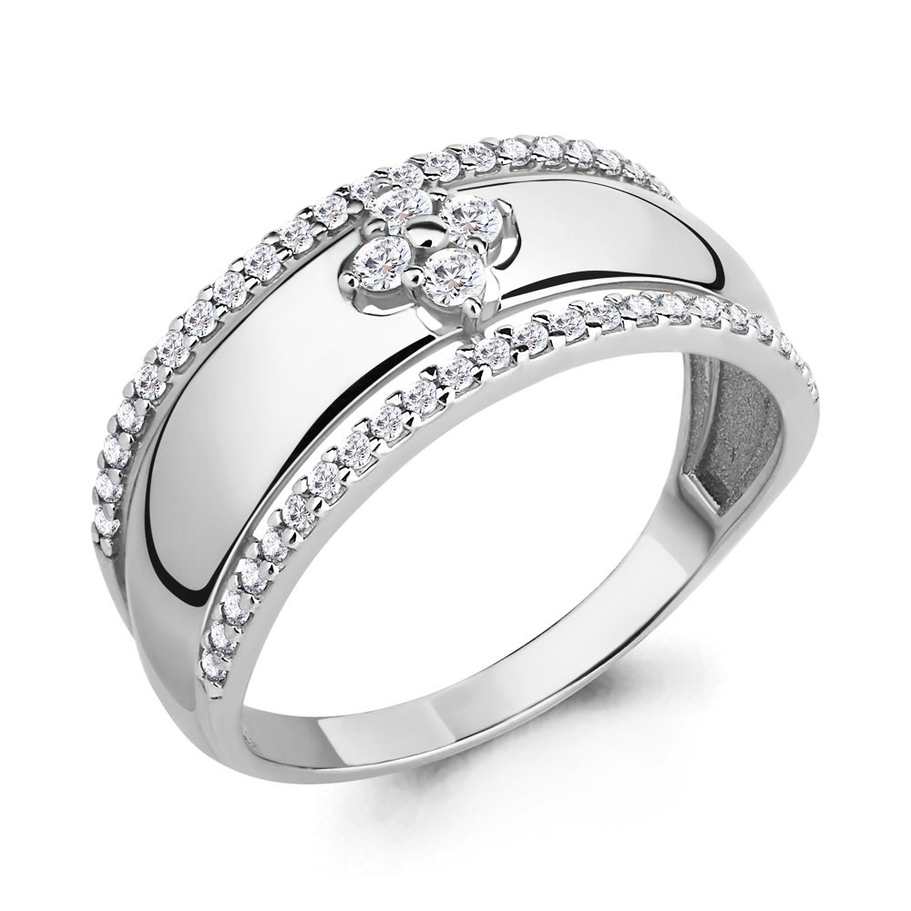Серебряное кольцо с фианитом AQUAMARINE (#708762)