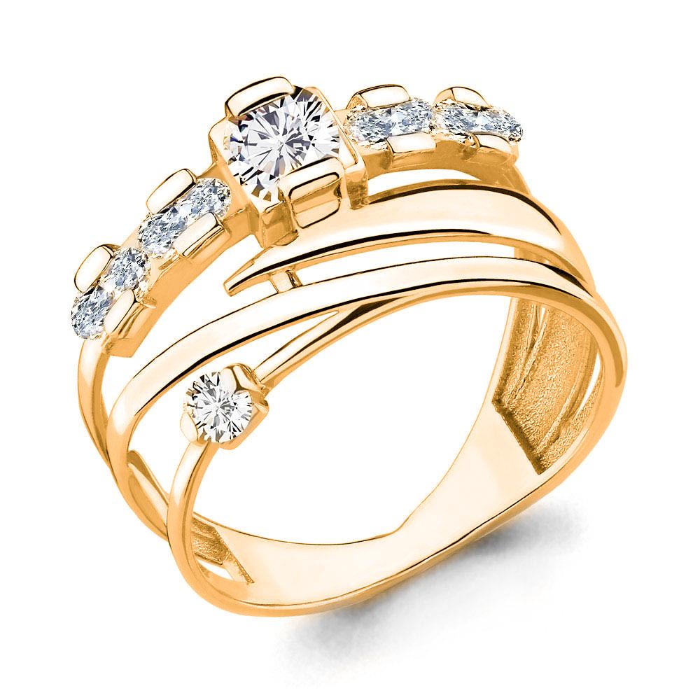 Серебряное кольцо с фианитом AQUAMARINE (#708733)