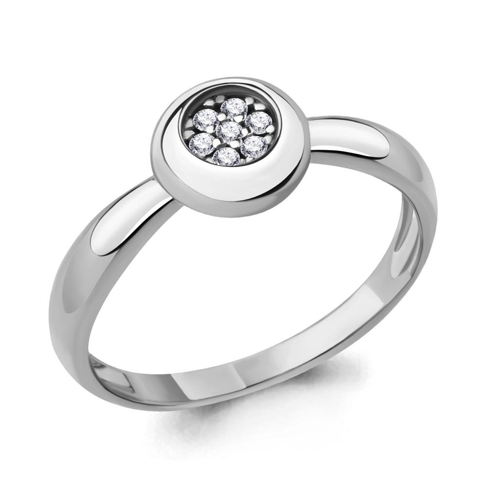 Серебряное кольцо с фианитом AQUAMARINE (#705235)