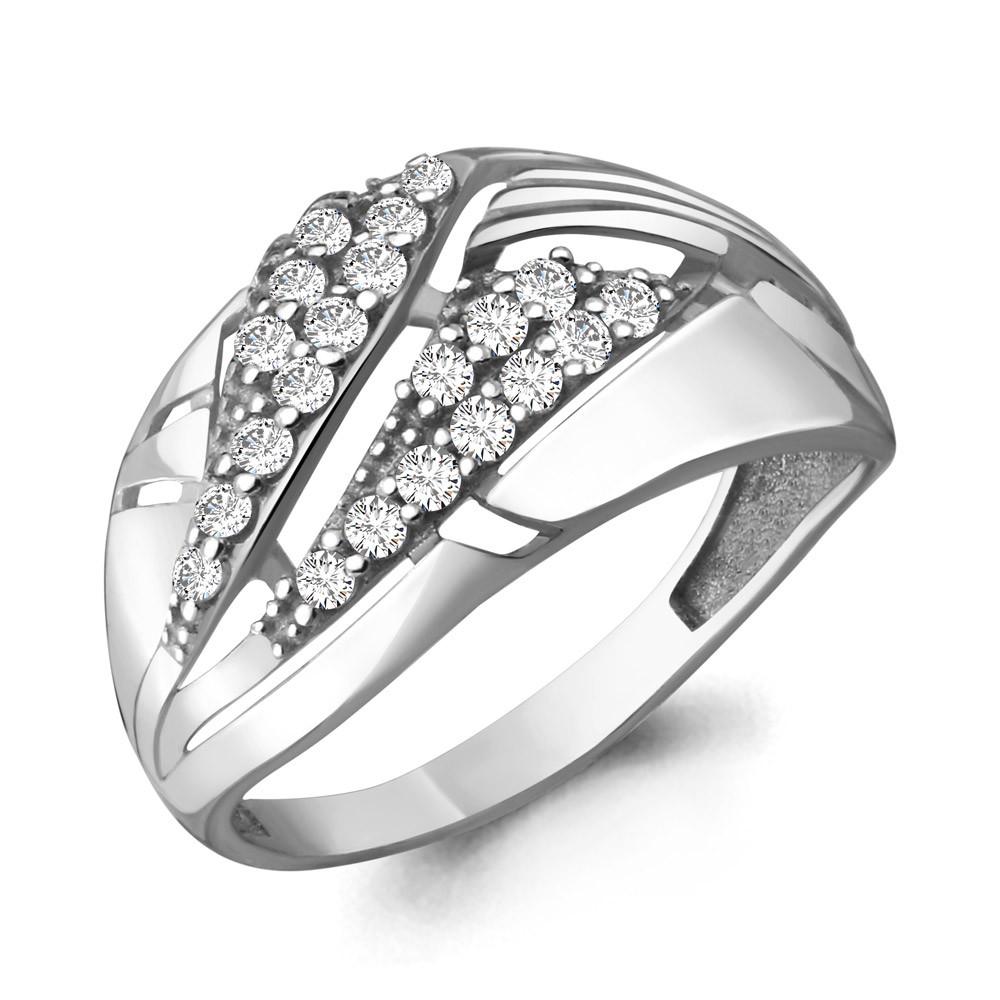 Серебряное кольцо с фианитом AQUAMARINE (#708732)