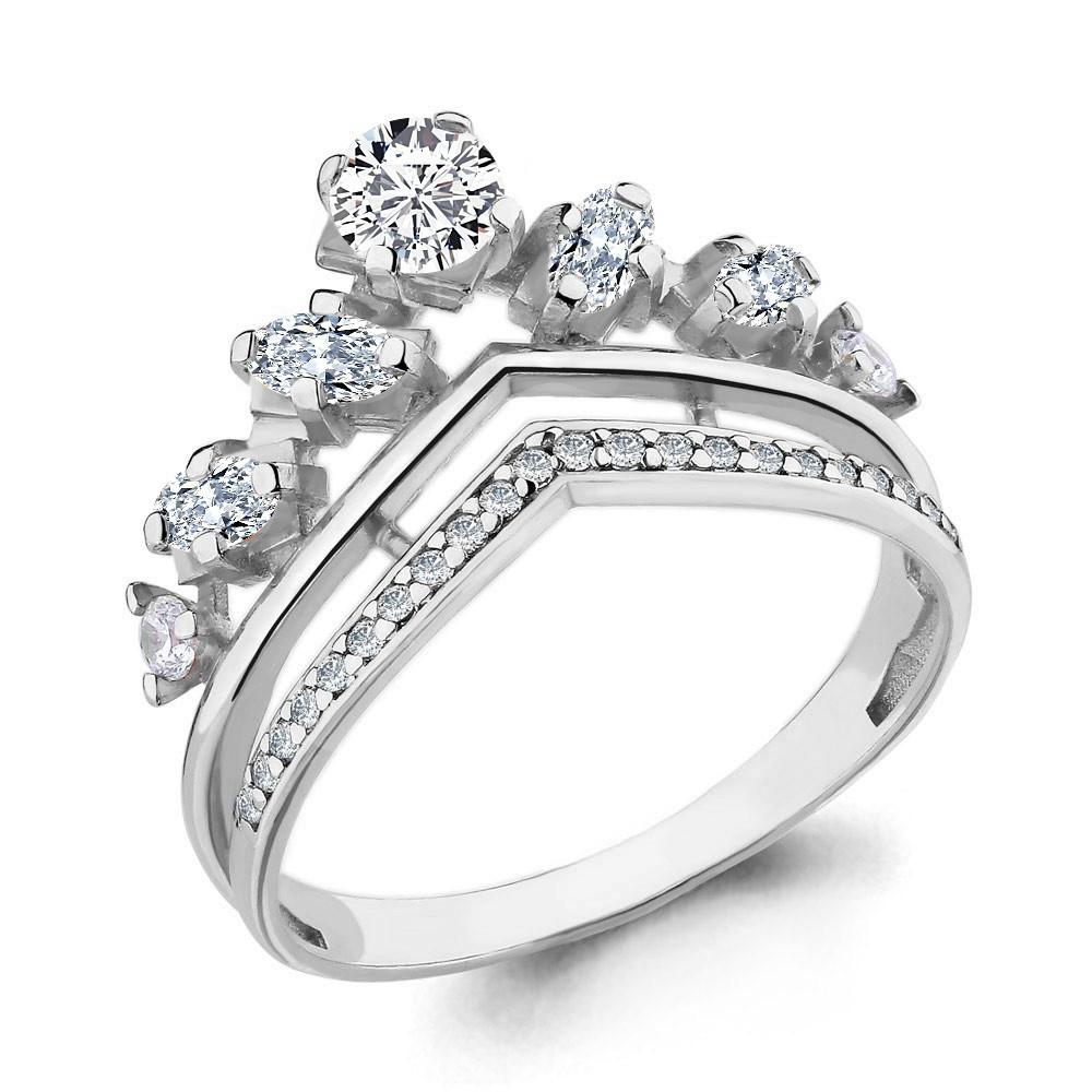 Серебряное кольцо с фианитом AQUAMARINE (#652893)
