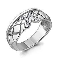 Серебряное кольцо с фианитом AQUAMARINE (#706423)