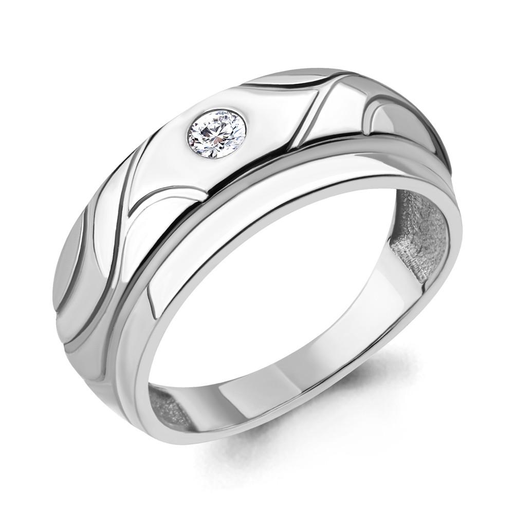 Серебряное кольцо с фианитом AQUAMARINE (#706433)