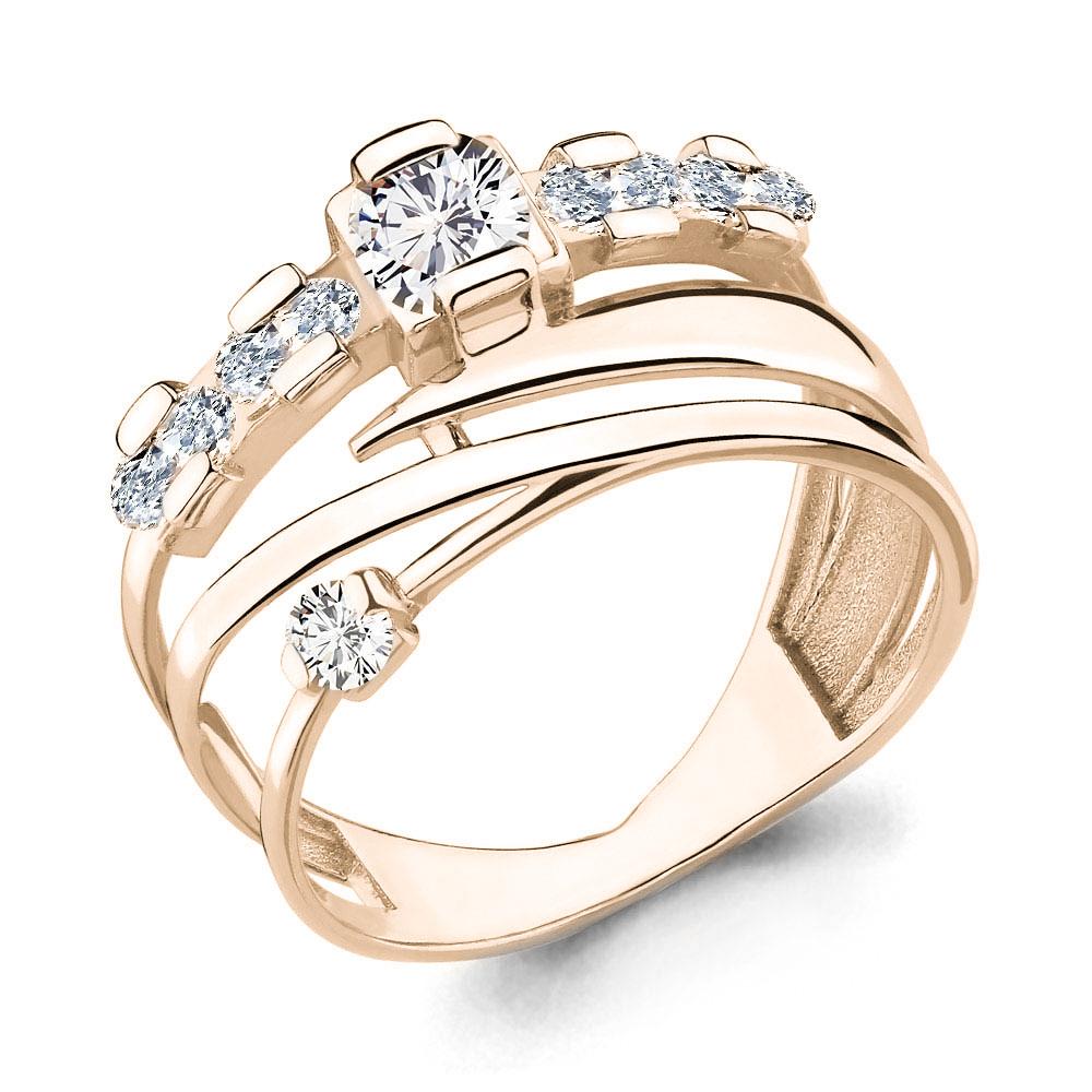 Серебряное кольцо с фианитом AQUAMARINE (#654687)