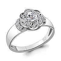 Серебряное кольцо с фианитом AQUAMARINE (#706425)