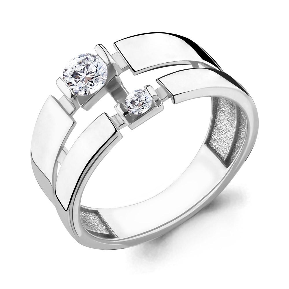 Серебряное кольцо с фианитом AQUAMARINE (#657290)