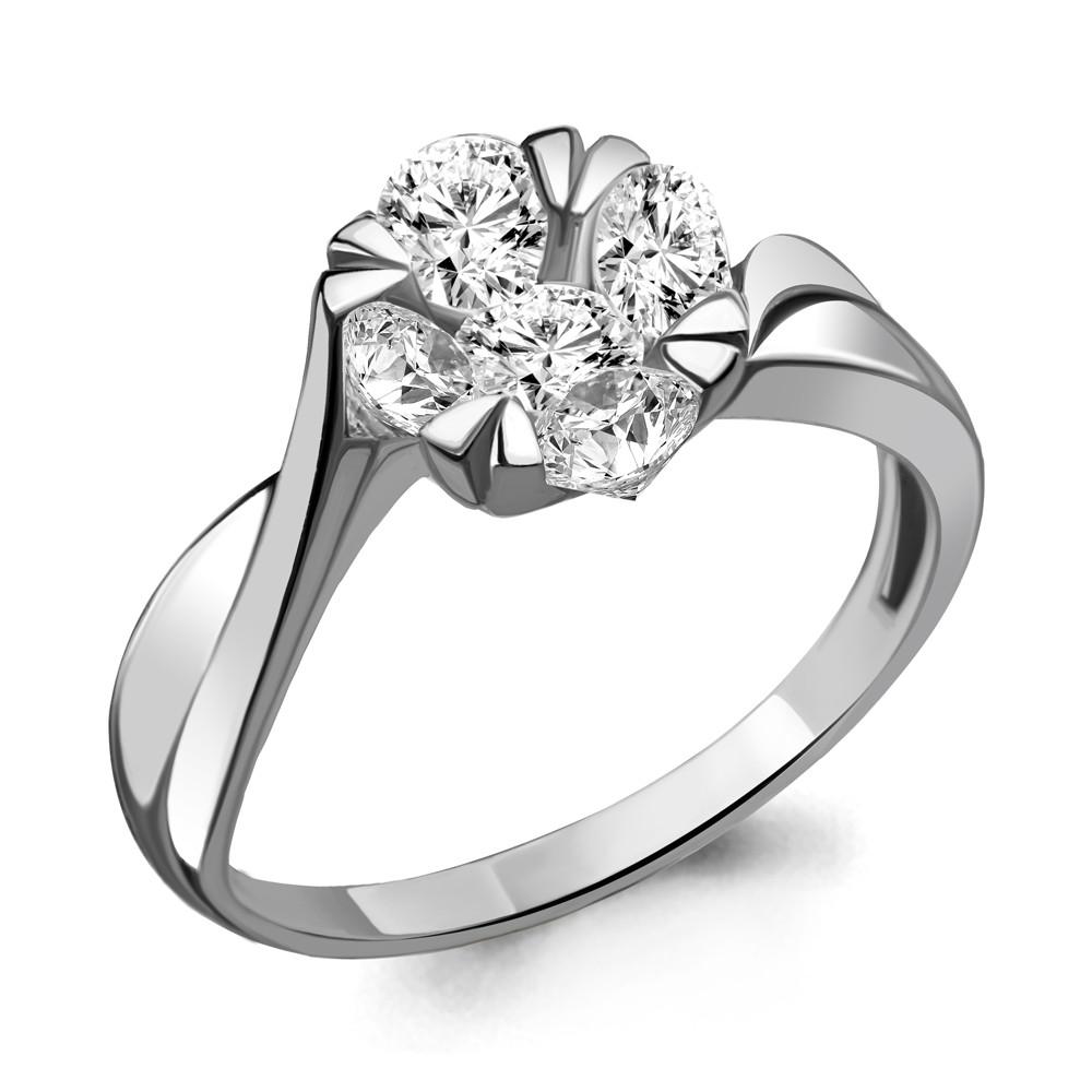 Серебряное кольцо с фианитом AQUAMARINE (#711683)