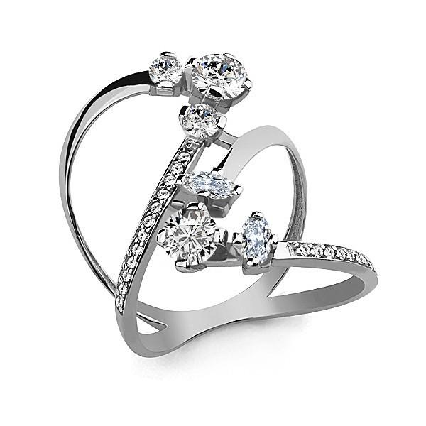Серебряное кольцо с фианитом AQUAMARINE (#657291)
