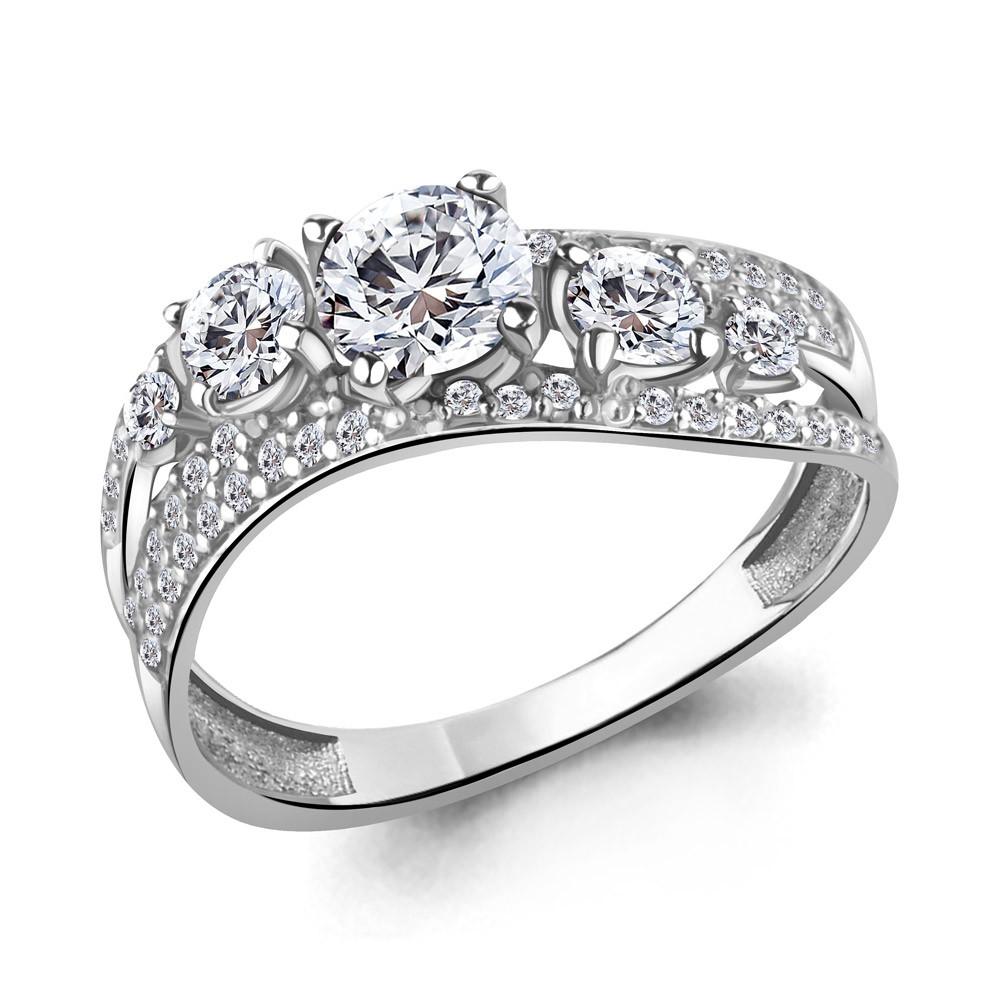 Серебряное кольцо с фианитом AQUAMARINE (#711482)