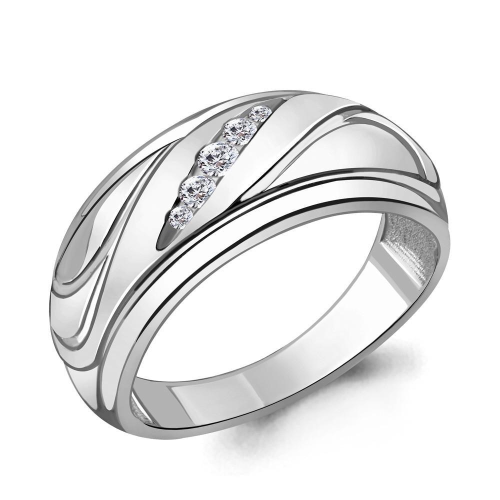 Серебряное кольцо с фианитом AQUAMARINE (#706434)