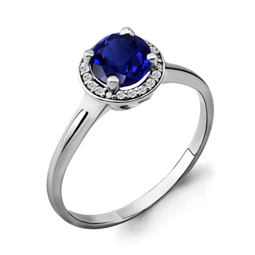 Серебряное кольцо с фианитом AQUAMARINE (#632284)