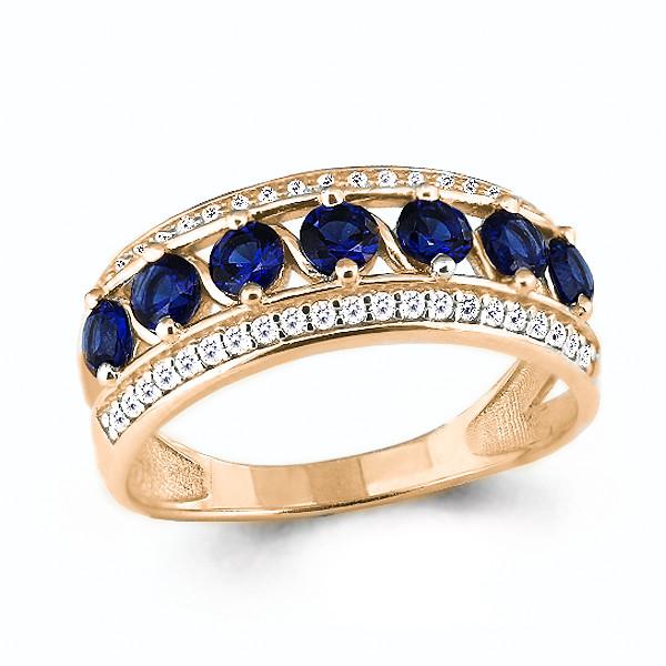 Серебряное кольцо с фианитом AQUAMARINE (#632264)