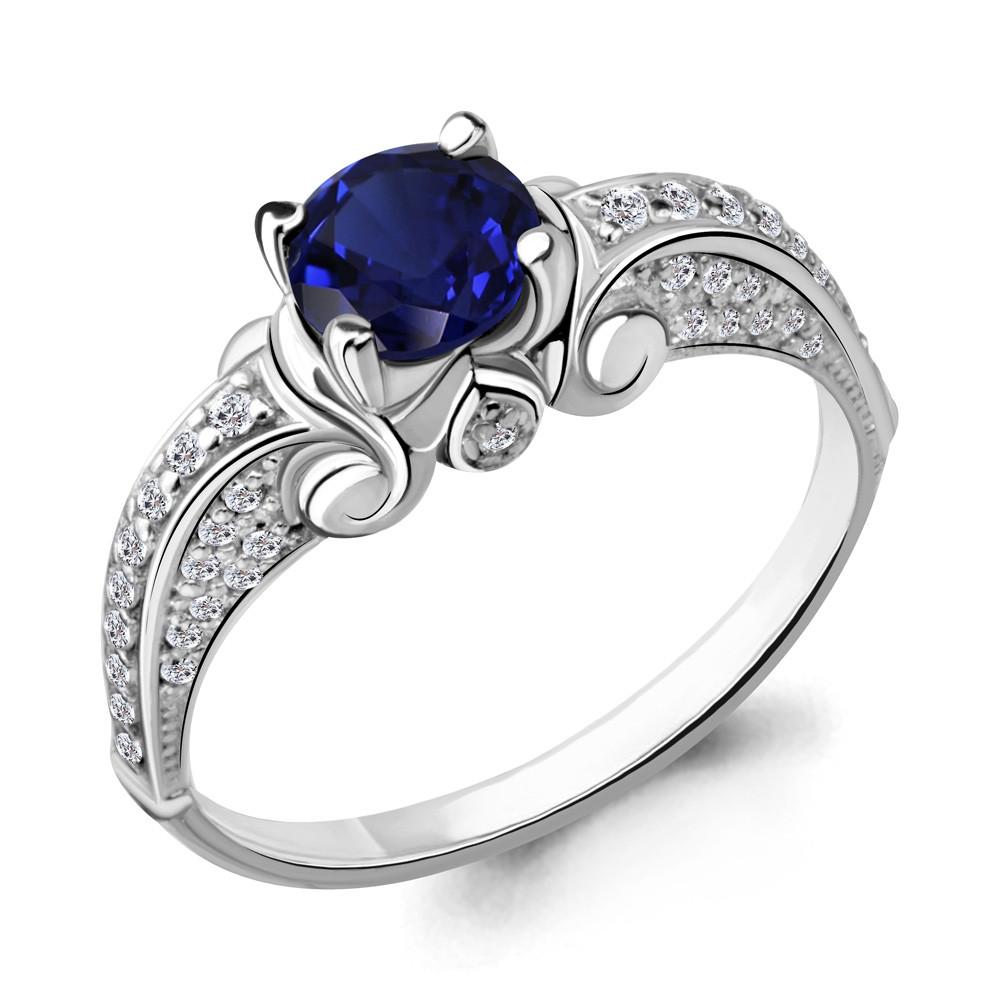 Серебряное кольцо с фианитом AQUAMARINE (#703834)