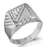 Серебряное кольцо с фианитом AQUAMARINE (#578677)
