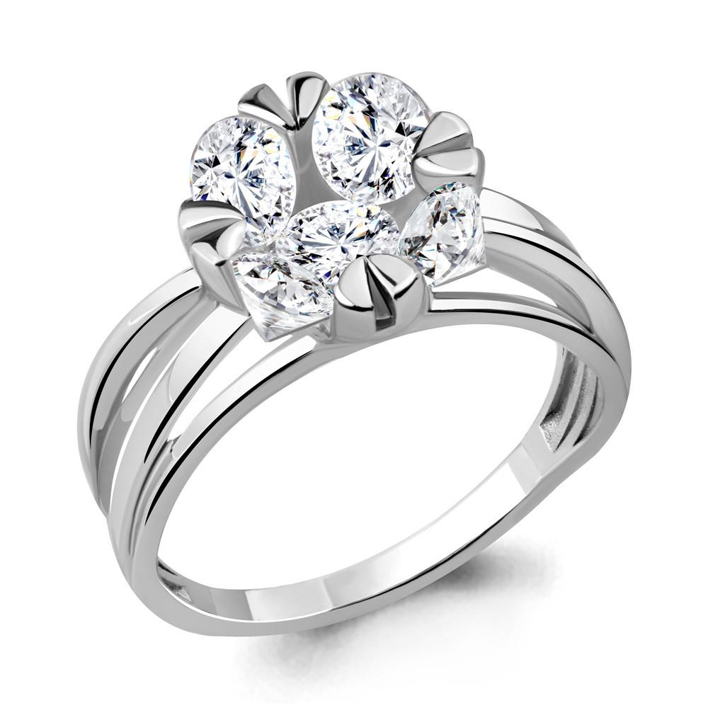 Серебряное кольцо с фианитом AQUAMARINE (#714865)