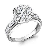 Серебряное кольцо с фианитом AQUAMARINE (#711846)