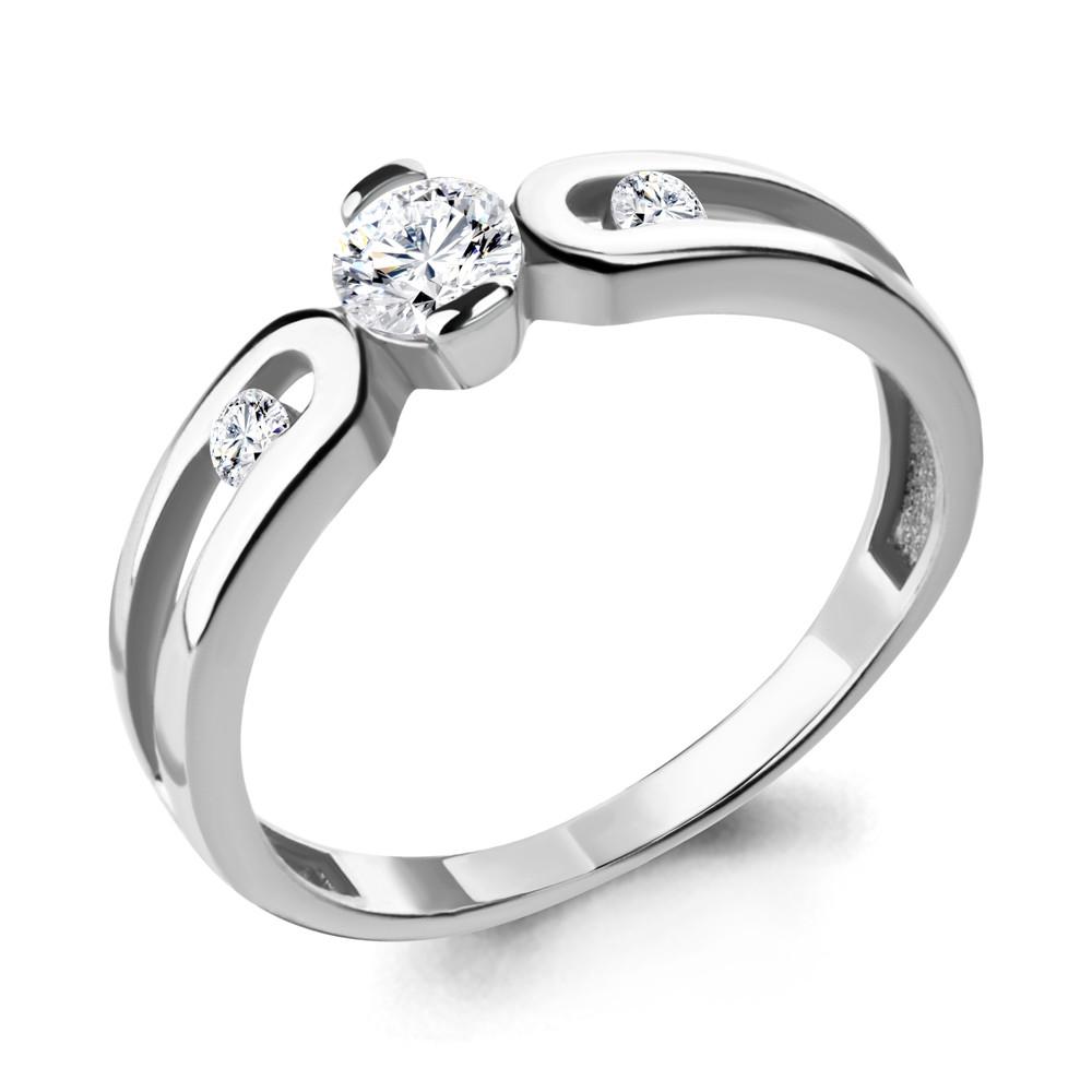 Серебряное кольцо с фианитом swarovski AQUAMARINE (#708748)