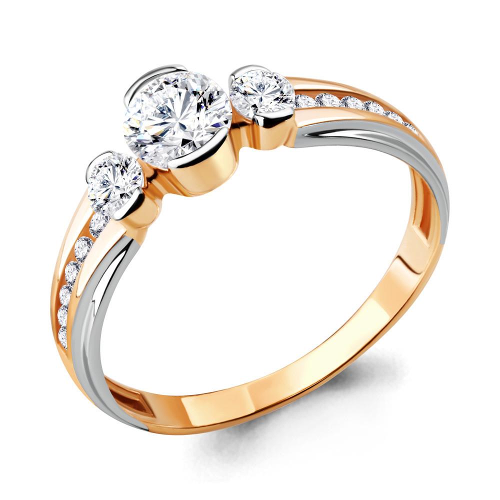 Серебряное кольцо с фианитом swarovski AQUAMARINE (#712112)