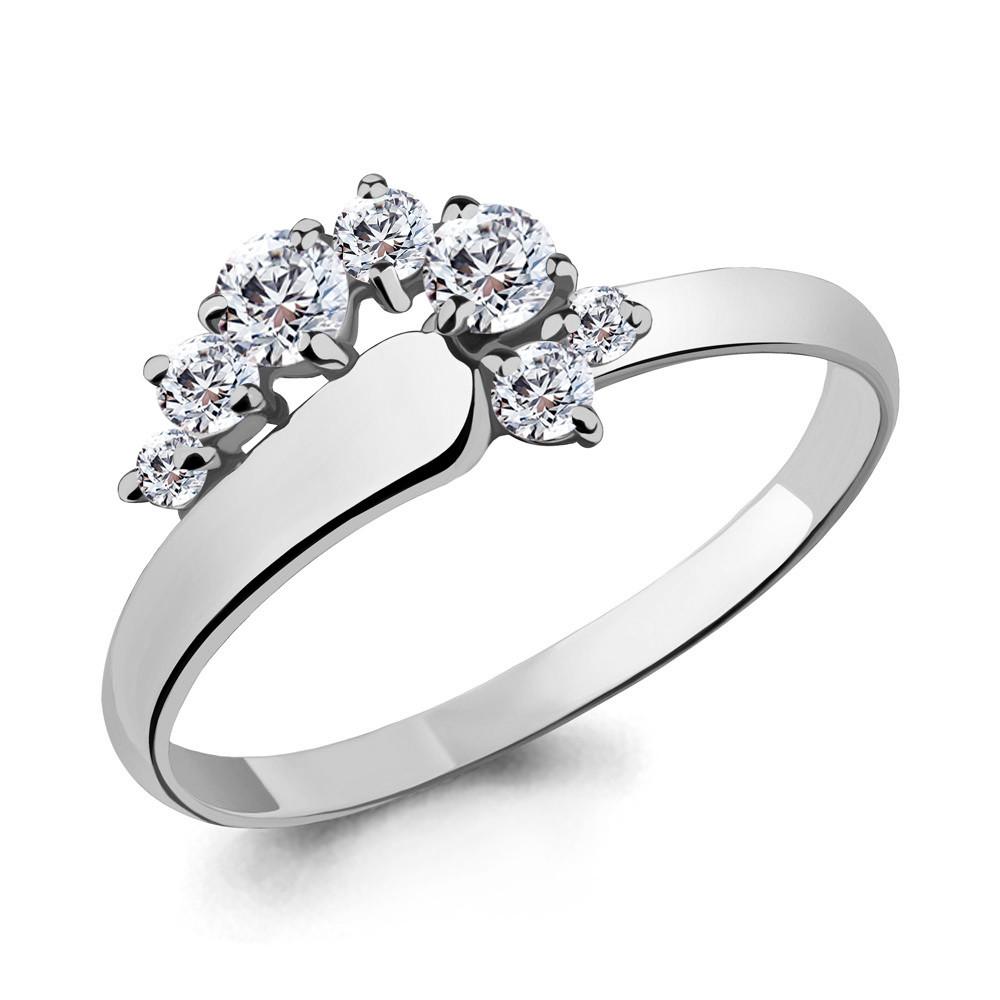 Серебряное кольцо с фианитом swarovski и фианитом AQUAMARINE (#708740)