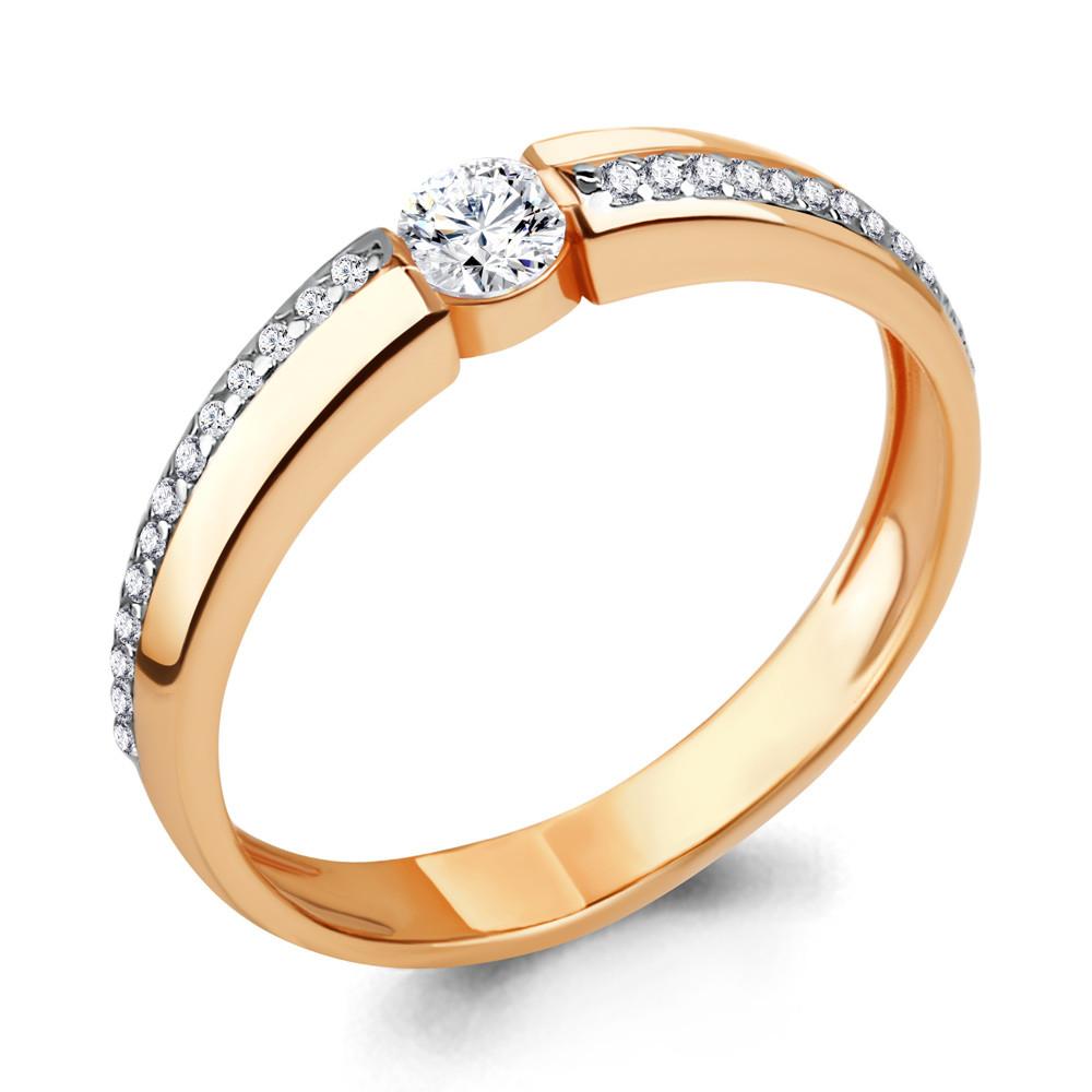 Серебряное кольцо с фианитом и фианитом swarovski AQUAMARINE (#712110)