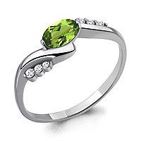 Серебряное кольцо с хризолитом и аметистом AQUAMARINE (#433255)