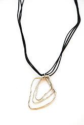 Массивные Колье из веревки и шнура Brosh Jewellery  (золото)