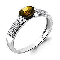 Серебряное кольцо с цитрином AQUAMARINE (#697846)
