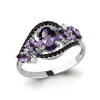 Серебряное кольцо с шпинелью и нано кристаллом AQUAMARINE (#630569)