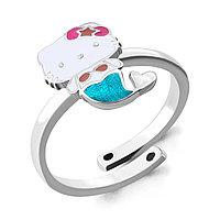 Серебряное кольцо с эмалью AQUAMARINE (#667389)