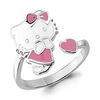 Серебряное кольцо с эмалью AQUAMARINE (#667400)