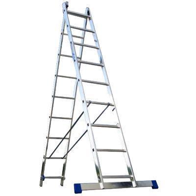 Лестница двухсекционная алюминиевая Алюмет 5209