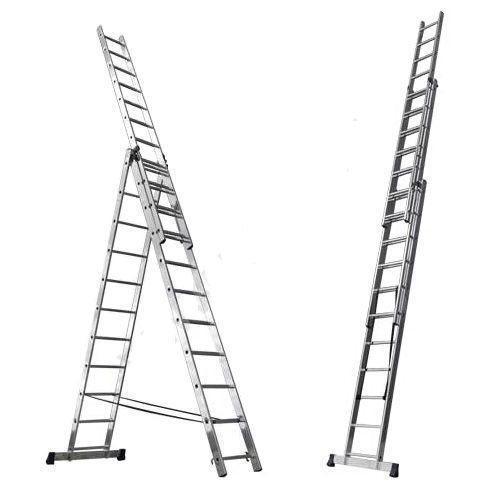 Лестница трехсекционая алюминиевая Алюмет 6314