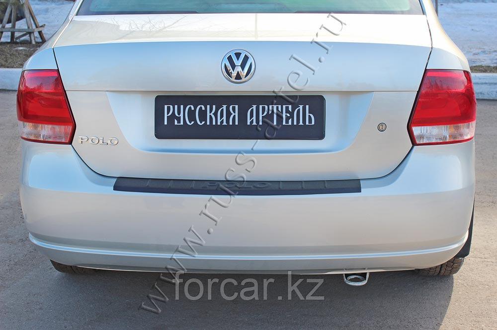 Накладка на задний бампер Volkswagen Polo V 2009-