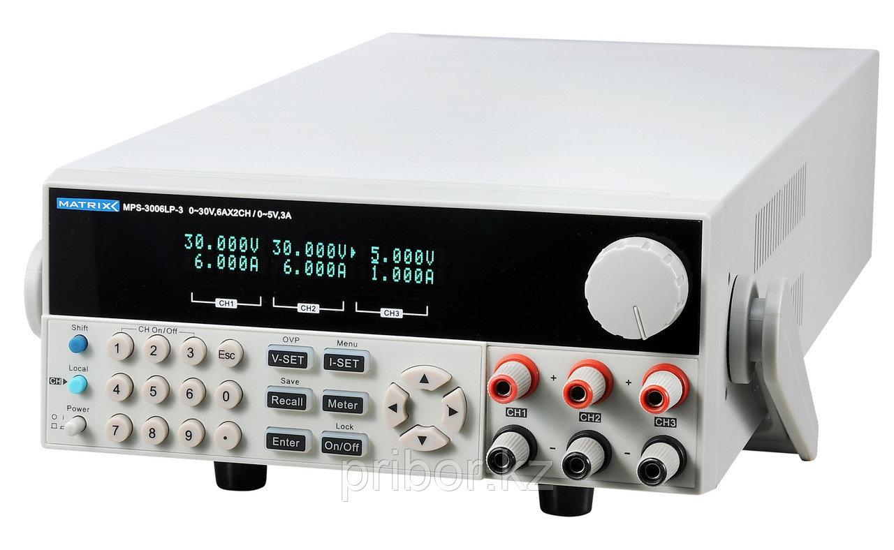 Программируемый 3-х канальный источник постоянного тока (30 В, 6 А) MATRIX MPS-3006LP-3