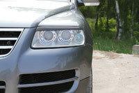 Накладки на передние фары (реснички) Volkswagen Touareg 2002-2006, фото 2