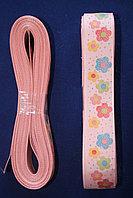 Репсовая лента с рисунком (цветы) 25 мм.