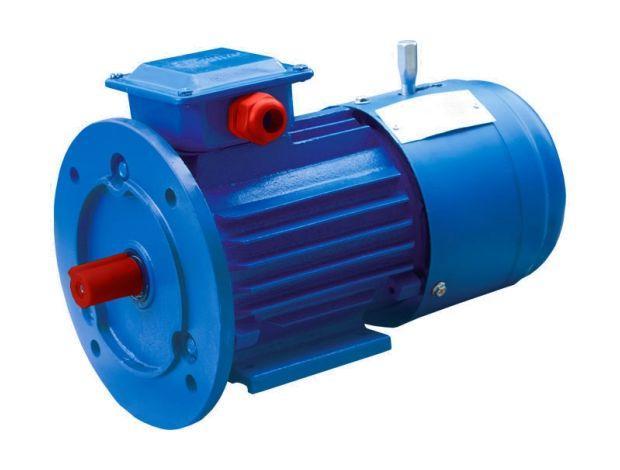 Электродвигатель со встроенным электромагнитным тормозом АИР 63 В4 Е, Е2