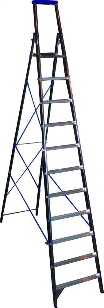 Стремянка алюминиевая 10 ступ., Н=2,08м
