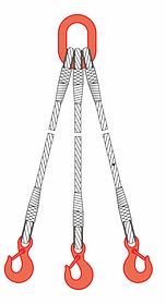 Строп канатный 3СК 1,25т 1м