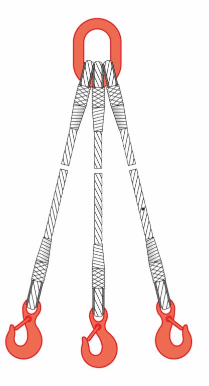 Строп канатный 3СК 20т 1м