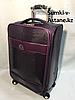 Маленький дорожный чемодан на 4-х колесах.Лак.Высота 57 см, ширина 35 см, глубина 22 см.