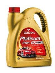 Высококачественное европейское моторное масло Platinum MaxPower SM/SL/CF A3/B3 0W40,4литр
