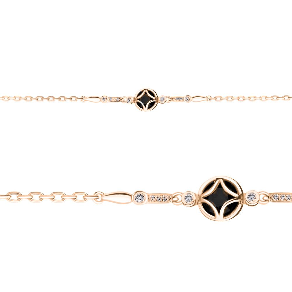 Серебряный браслет с стеклом AQUAMARINE #686359