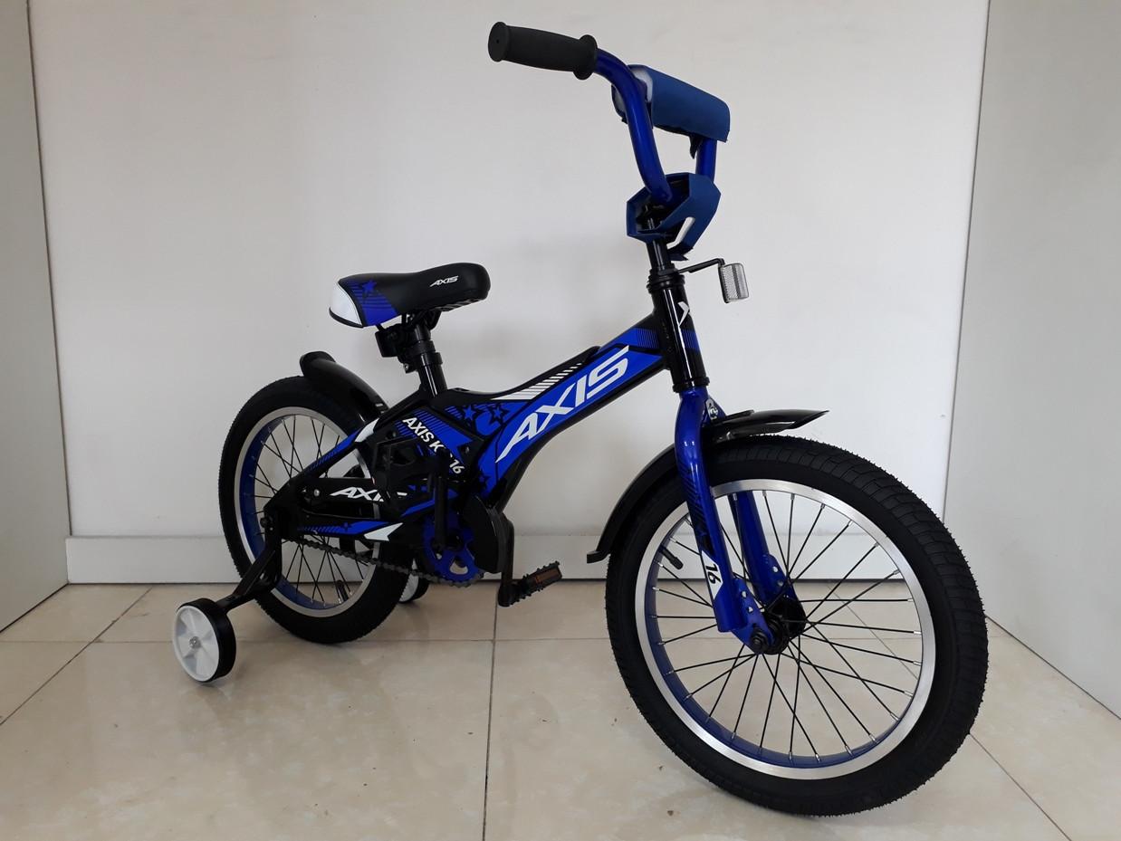 Велосипед AXIS KIDS 16, Алюминиевая рама с дополнительными колесиками и подножкой