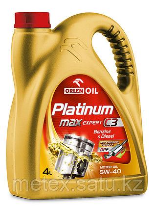 Высококачественное европейское моторное масло Platinum MaxExpert C3 5W40,4литр, фото 2